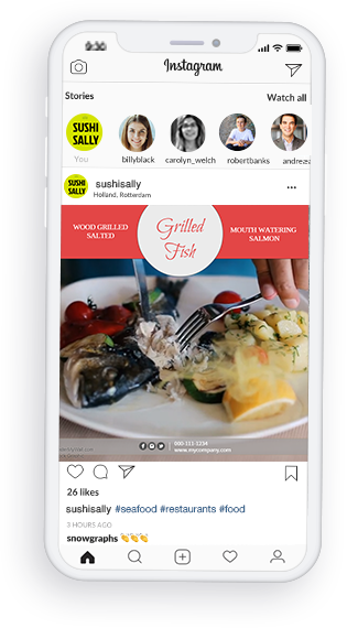 digital menu on phone